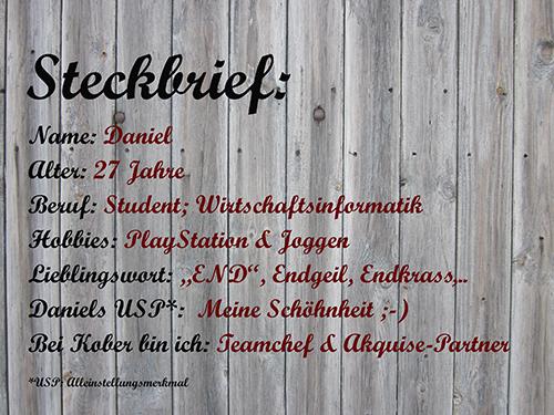 Steckbrief Daniel aus München